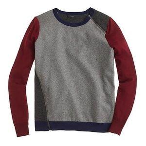 J. Crew Merino Wool Asymmetrical Zip Sweater
